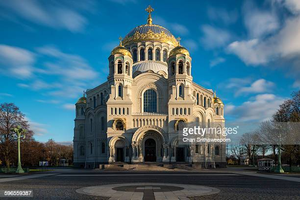 the naval cathedral of saint nicholas in kronstadt - st. nicholas cathedral stock pictures, royalty-free photos & images