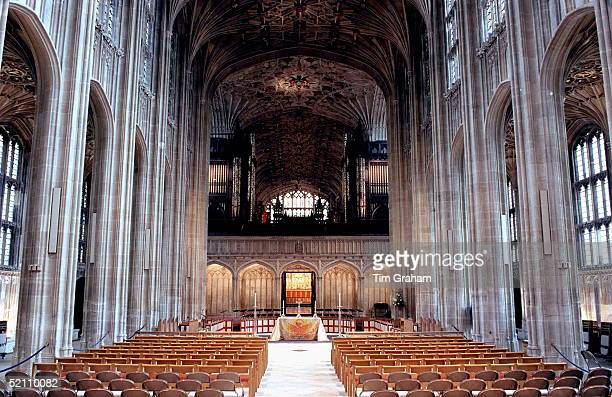 The Nave In Stgeorge's Chapel Windsor The Wedding Of Prince Edward And Sophie Rhysjones Took Place Here And The Royal Family Sat On The Right Hand...