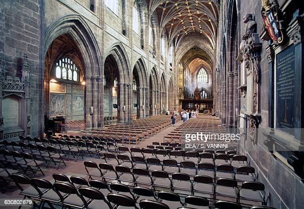 The nave of Chester Cathedral Cheshire England United Kingdom 11th16th century