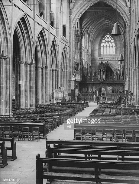 The nave of Chester Cathedral Cheshire