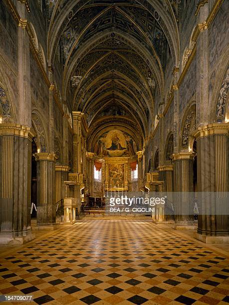 The nave of the Cathedral of Santa Maria Assunta, Cremona. Italy, 12th-14th century.