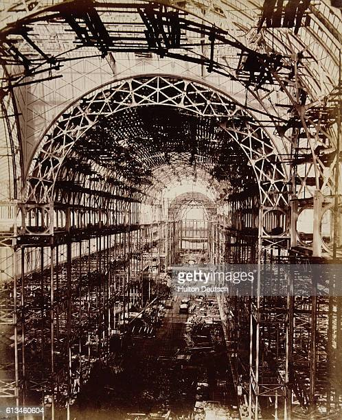 The nave of the Crystal Palace built for the Great Exhibition of 1851 Originally in Hyde Park it was dismantled and reassembled in south London the...