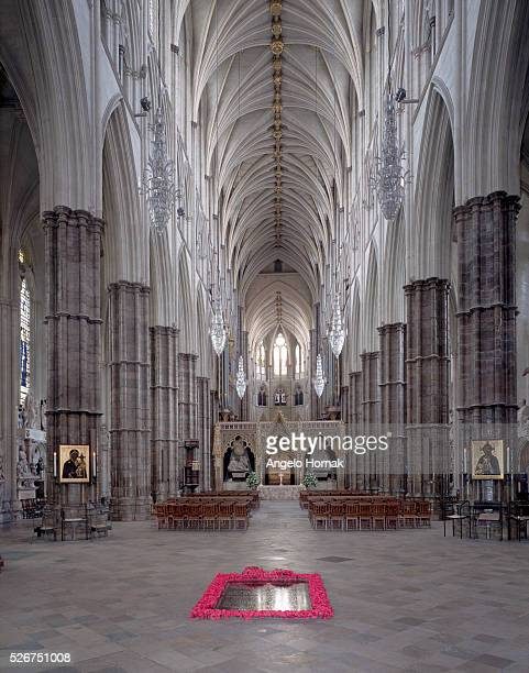 The nave of Westminster Abbey was built from the 13th to the 15th century. The master mason during the later stages of the work was Henry Yevele.