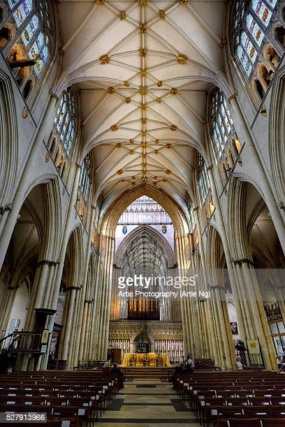 the nave of york minster, north yorkshire, england, united kingdom - york minster stock pictures, royalty-free photos & images