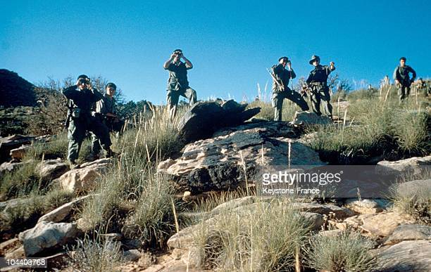The navy commando of Penfentenyo in operation in the djebel Beni Smir in the Southern Oranese region of Algeria