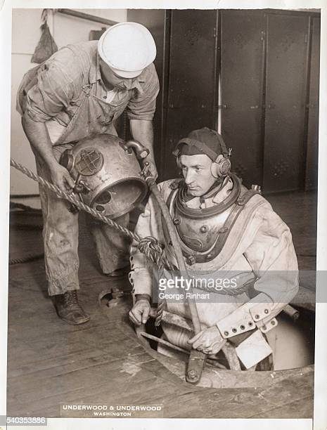 The Navy planned to open the most unique school in the country a training class for deep sea divers Specially constructed tanks were arranged so that...