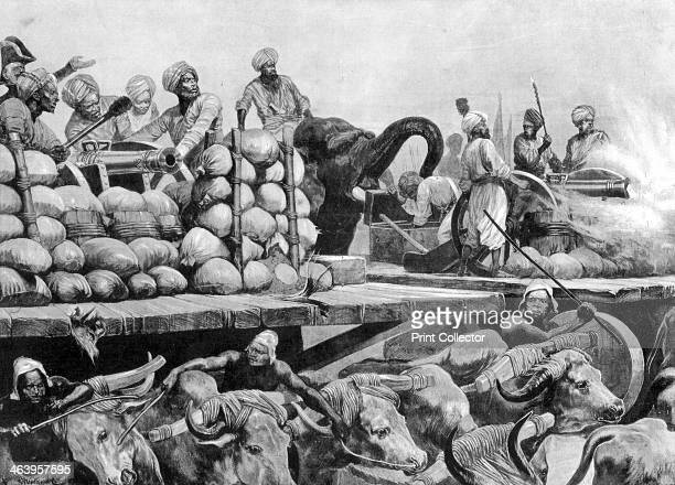 The Nawab Siraj Ud Daulah's artillery on its movable platform India In 1757 at the Battle of Plassey Clive and British troops secured Bengal under...
