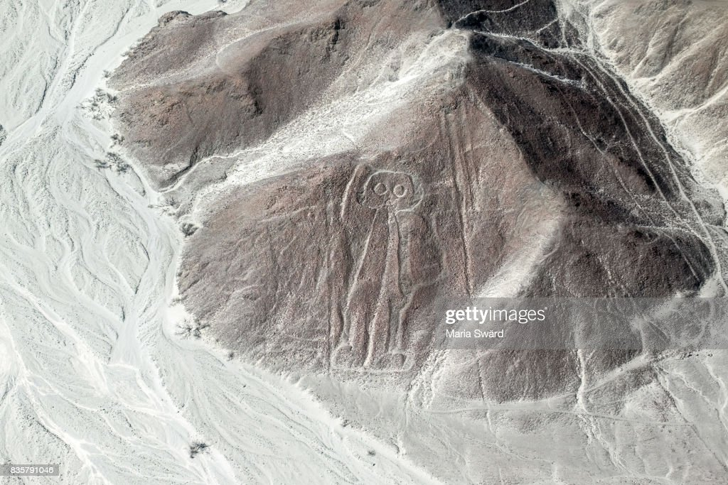 "The Nazca lines from Air - the ""Astronauta/Astronaut"" Figure : Stock-Foto"
