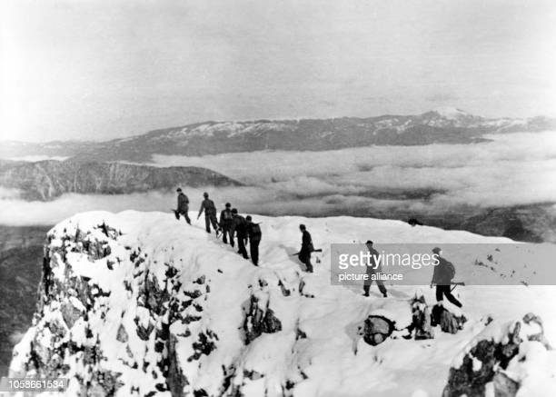 The Nazi propaganda picture shows members of the Croatian mountain troopers fighting for the German Wehrmacht against partisans in Yugoslavia. The...
