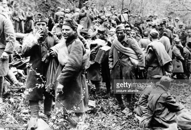 The Nazi propaganda picture shows soldiers captured by the German Wehrmacht after crossing the Metaxas Line Photo Berliner Verlag / Archive