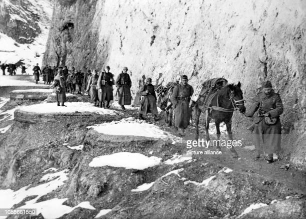 The Nazi propaganda picture shows soldiers of the German Wehrmacht fighting partisans in Yugoslavia. The photo was taken in April 1943. Photo:...
