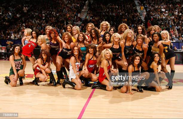 The NBA AllStar dance team performs during Footlocker ThreePoint Shootout at NBA AllStar Weekend on February 17 2007 at Thomas Mack Center in Las...