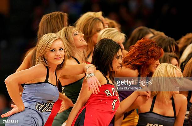 The NBA AllStar Dance Team performs during the Sprite Slam Dunk Competition during NBA AllStar Weekend on February 17 2007 at Thomas Mack Center in...