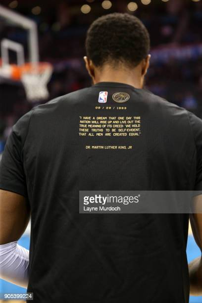 The NBA and Paul George of the Oklahoma City Thunder honor Black History Month on January 15 2018 at Chesapeake Energy Arena in Oklahoma City...