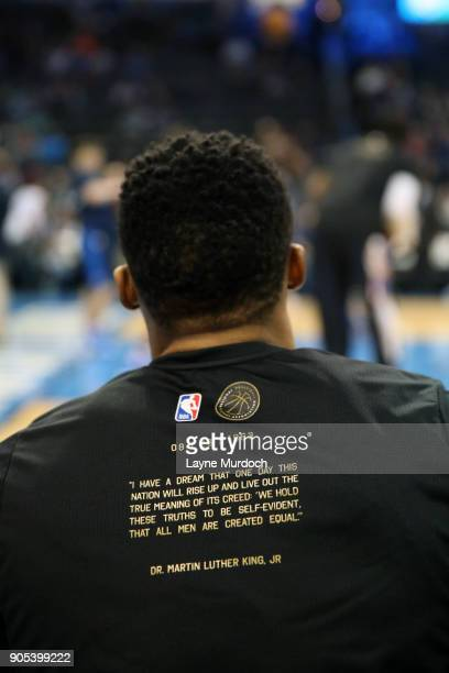 The NBA and Russell Westbrook of the Oklahoma City Thunder honor Black History Month on January 15 2018 at Chesapeake Energy Arena in Oklahoma City...