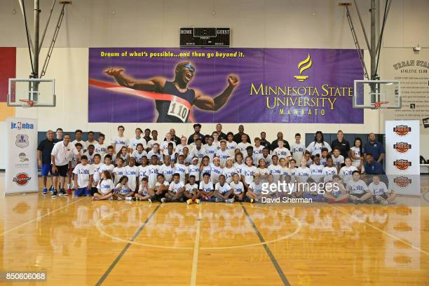 The NBA Retired Players Association hosts a youth clinic featuring NBA and WNBA retirees Nancy Lieberman Khalid ElAmin Willie Burton John Thomas...