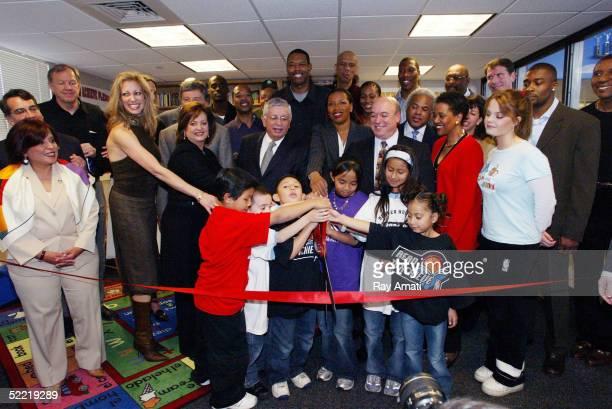 The NBA the Denver Nuggets dedicate the NBA's 100th Reading Learning Center at the Owen Boys Girl's Club on February 19 2005 in Denver Colorado...