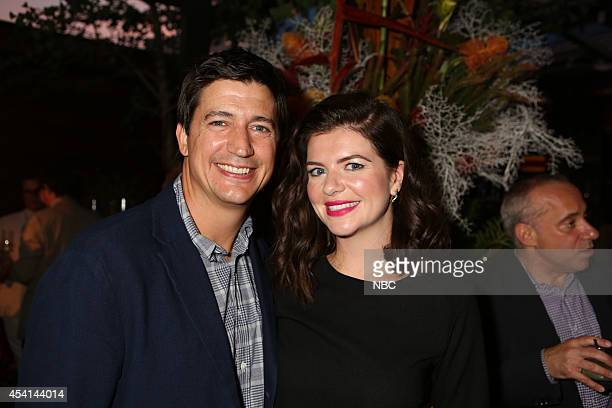 Ken Marino Casey Wilson Marry Me at Boa Steakhouse West Hollywood Calif August 24 2014