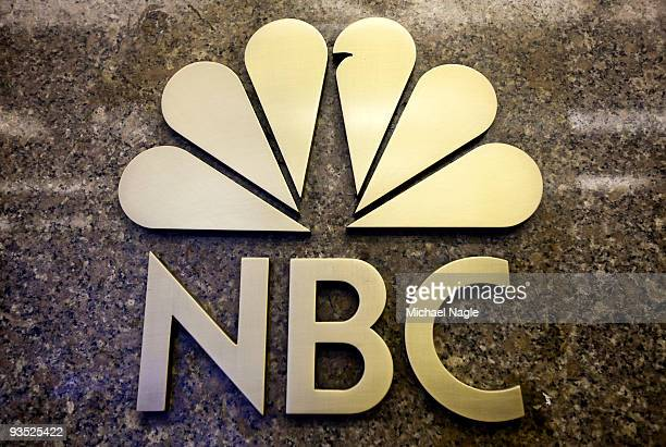 The NBC logo is seen on the entrance to NBC Studios on E 49th Street on December 1, 2009 in New York City. General Electric is poised to buy...