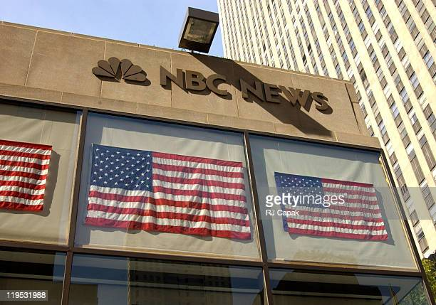 The NBC News Headquarters in Rockefeller Center during The Anthrax Scare comes to NBC News Headquarters in NYC in New York City, New York, United...