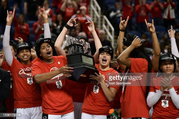 The NC State Wolfpack win the ACC Women's Tournament Championship game between the Florida State Seminoles and the NC State Wolfpack at Greensboro...
