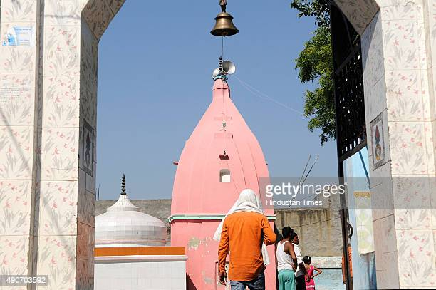 The nearby temple at Bisada village from where the rumours that victim Mohammad Akhlaq butchered a cow were spread on September 30 2015 in Greater...