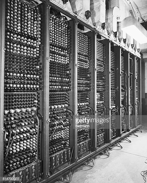 The nearly 18000 vacuum tubes and 6000 switches of the ENIAC the first electronic computer