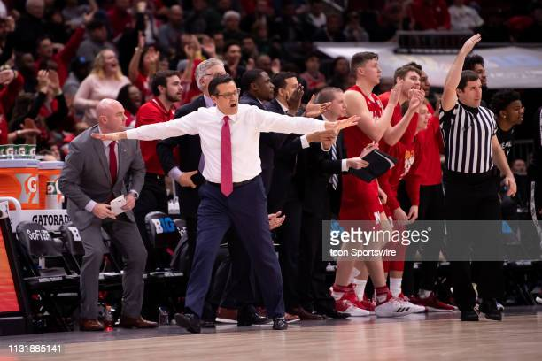The Nebraska Cornhuskers head coach Tim Miles is seen during a Big Ten Tournament quarterfinal game between the Nebraska Cornhuskers and the...