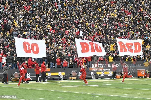 The Nebraska Cornhuskers take the field before a Big Ten Conference football game between the Nebraska Cornhuskers and the Iowa Hawkeyes on November...