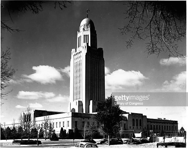 The Nebraska State Capitol in Lincoln Nebraska April 23 1953