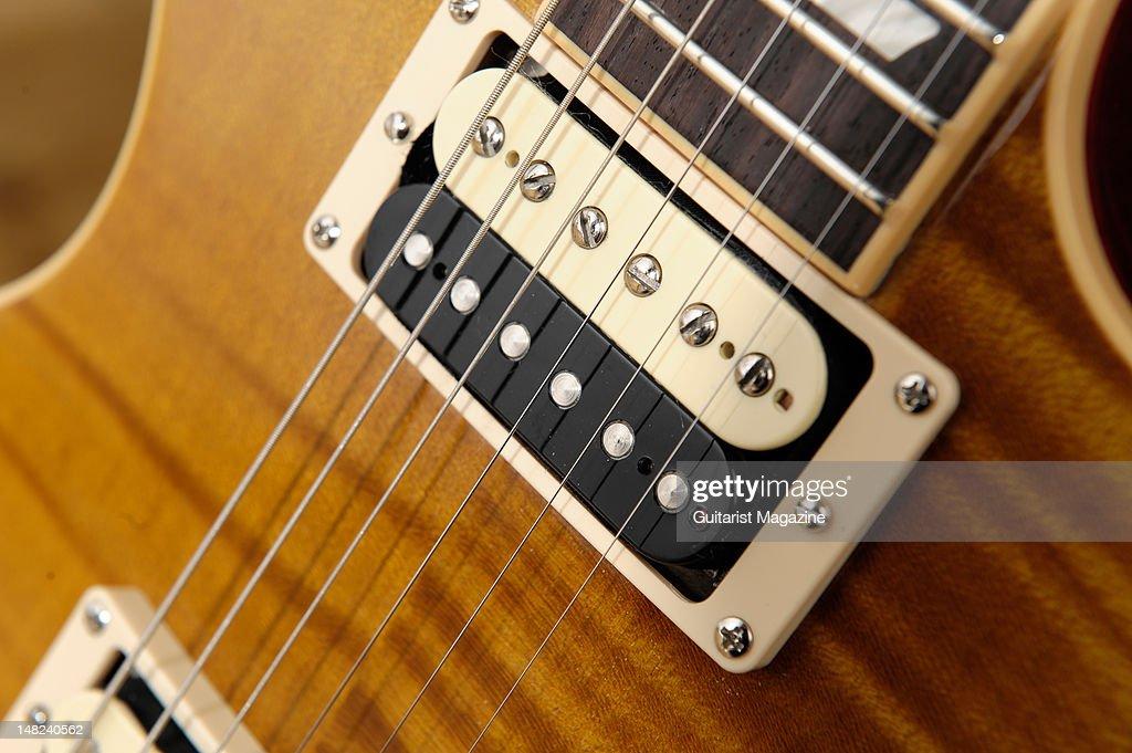The neck pickup of Slash's signature Gibson Appetite Les