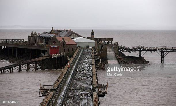 The neglected 1867 Grade II listed Birnbeck Pier is seen on January 12 2015 in WestonSuperMare England Concerns have been raised that the pier which...