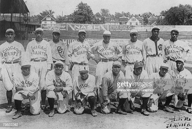 The Negro League Chicago American Giants pose for a photo in 1922.