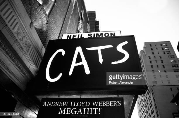 The Neil Simon Theater where the Andrew Lloyd Webber Broadway musical 'Cats' is playing is on 52nd Street in Midtown Manhattan's Theater District
