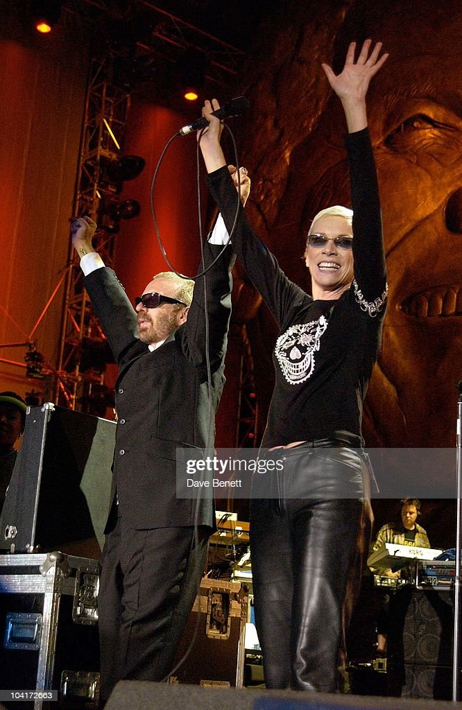 The Nelson Mandela Foundation's 46664 ' Give 1 Minute To Aids' Concert From The Greenpoint Stadium In Cape Town Africa, The Eurythmics Anne Lennox And Dave Stewart