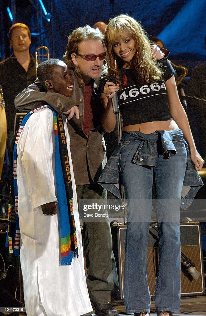 The Nelson Mandela Foundation's 46664 ' Give 1 Minute To Aids' Concert From The Greenpoint Stadium In Cape Town Africa, Bono_beyonce Knowles