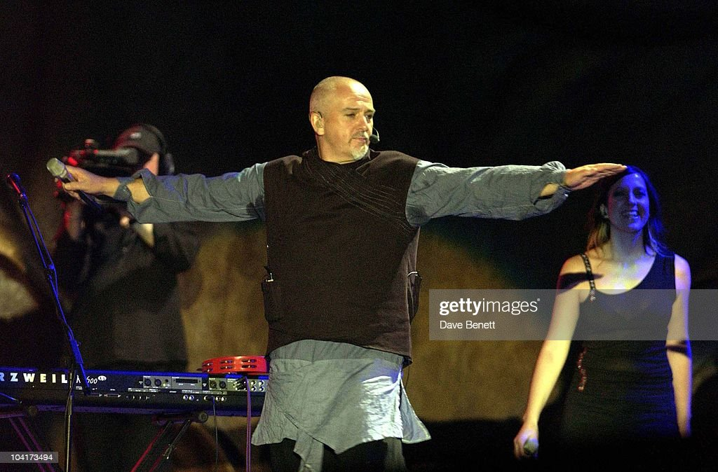 The Nelson Mandela Foundation's 46664 ' Give 1 Minute To Aids' Concert From The Greenpoint Stadium In Cape Town Africa, Peter Gabriel