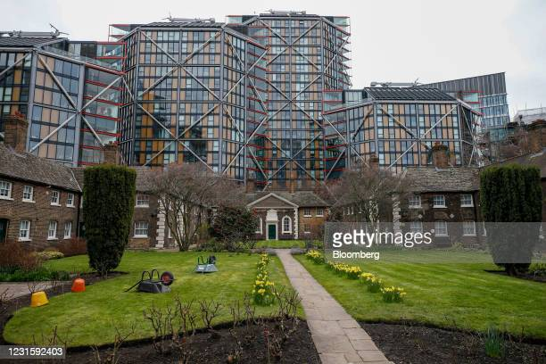 The NEO Bankside apartment complex looking over Hopton Gardens in London, U.K., on Sunday, March 7, 2021. Sales of luxury properties tumbled 13% as...