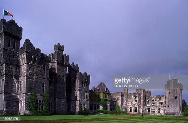 The neoGothic Ashford Castle in County Galway Ireland 19th century