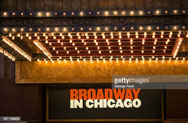 The neon marquee entrance to the Palace Theatre is viewed on March 26 in Chicago Illinois Visitors to The Windy City the third most populous city in...