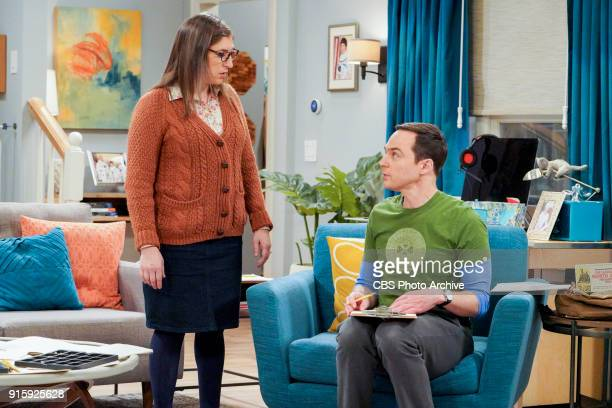 'The Neonatal Nomenclature' Pictured Amy Farrah Fowler and Sheldon Cooper When Bernadette won't go into labor all her friends try different tactics...