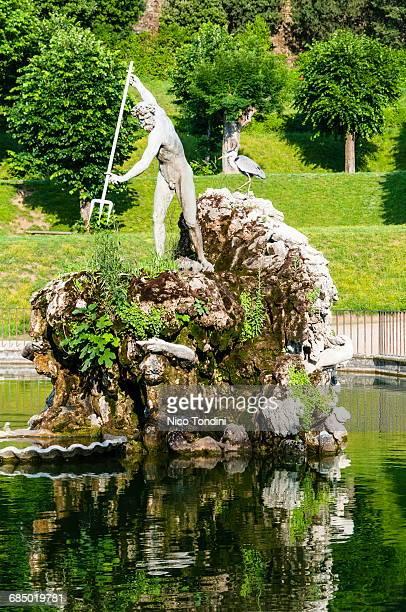 The Neptune fountain, Boboli gardens, Florence, UNESCO World Heritage Site, Tuscany, Italy, Europe