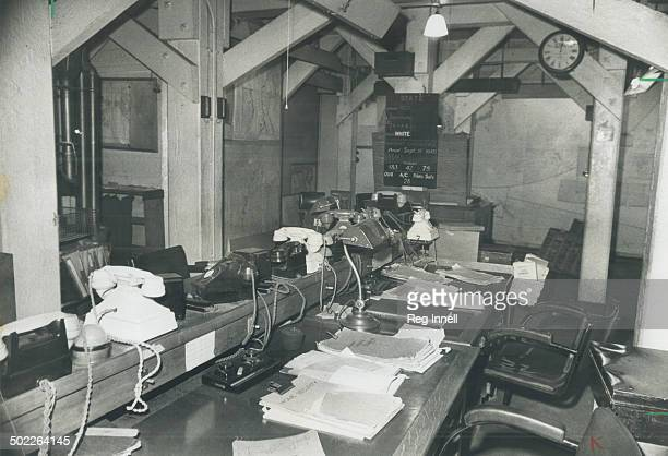 The nerve centre of the Cabinet War Rooms underneath London's Great George St. Was this jumbled, paper-strewn Map Room, left just as it was when...