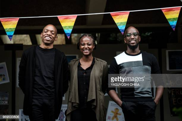 The Nest Collective Director Tim Chuchu Production Designer Summy Dolat and Producer Njeri Gitungo pose after their keynote speech on their film The...