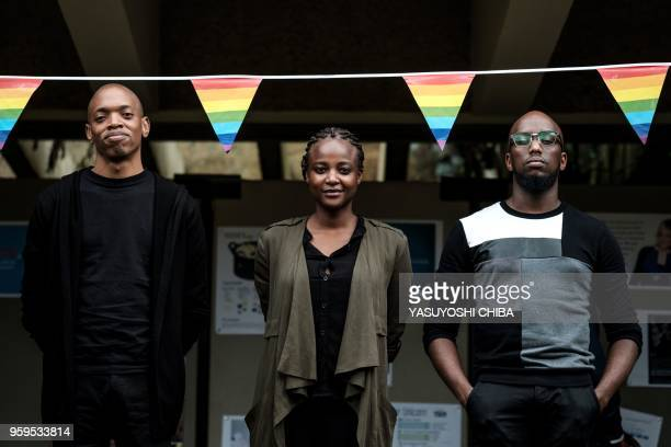 The Nest Collective Director Tim Chuchu , Production Designer Summy Dolat and Producer Njeri Gitungo pose after their keynote speech on their film...