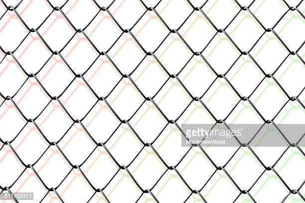 the net with colored shadow - hek stockfoto's en -beelden