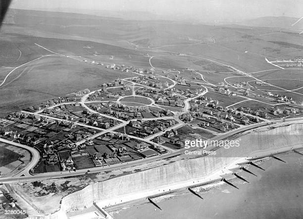 The net work of rows and sprawl of identical houses on the housing estate at Saltdean in Sussex