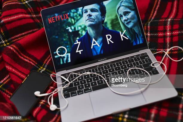 """The Netflix Inc. Crime drama web television series """"Ozark"""" is displayed on a laptop computer in an arranged photograph taken in the Brooklyn Borough..."""