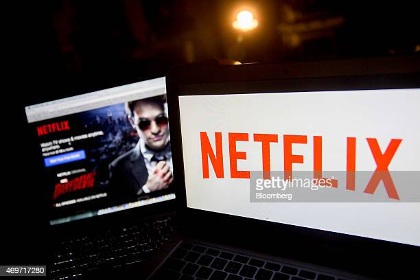 The Netflix Inc logo and website are displayed on laptop computers for a photograph in Washington DC US on Tuesday April 14 2015 Netflix Inc the...