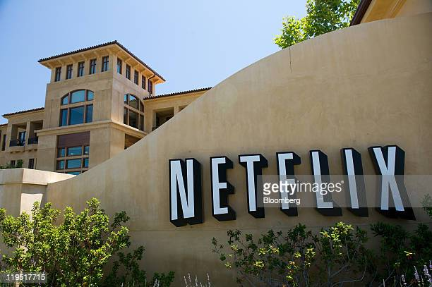 The Netflix Inc logo is displayed at the entrance to the company's headquarters in Los Gatos California US on Thursday July 21 2011 Neflix Inc will...